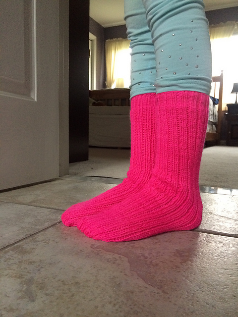 Neon Pink Tube Socks