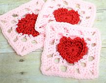 Bunny Mummy: Sunburst Granny Heartswith pattern
