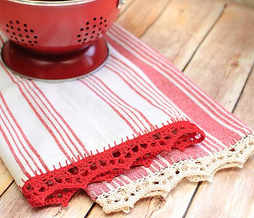 http://www.ravelry.com/patterns/library/crochet-edged-tea-towel