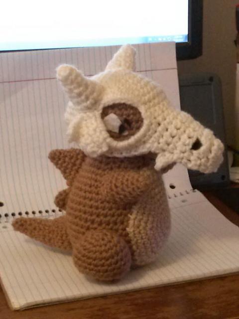 Free Amigurumi Skull Pattern : [FO] Cubone! Amigurumi : crochet