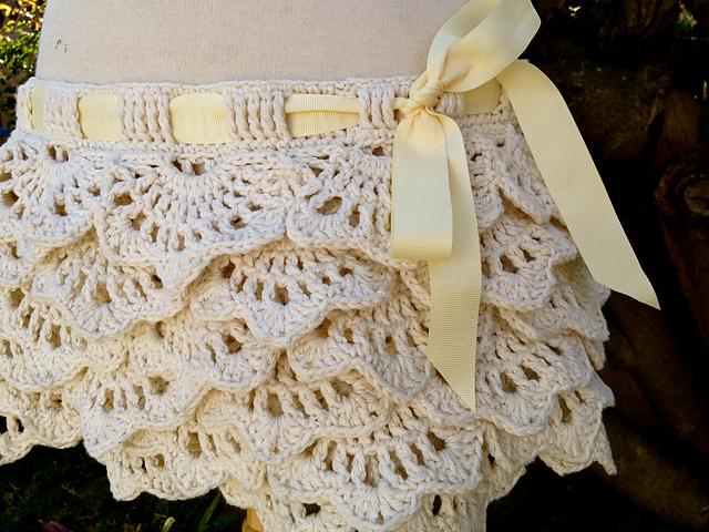 Pattern of the week: thinking of? a ruffles skirt ...