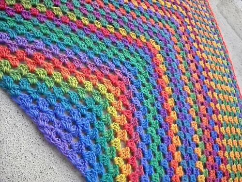 Hazel's Crochet: Half Square Granny Shawl