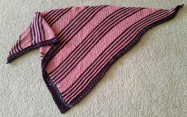"""针织:披肩""""快乐的三角"""" - maomao - 我随心动"""