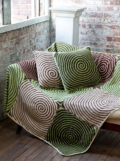 Vortex Throw & Pillows by Lisa Gentry