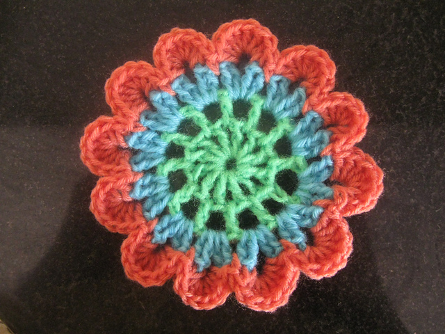 Free Crochet Pattern For Japanese Flowers : The gallery for --> Japanese Crochet Flower Tutorial