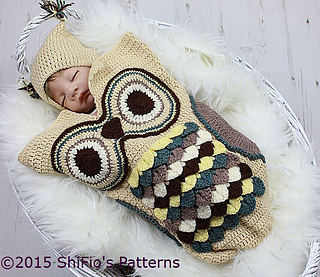 Ravelry 245 Owl Cocoon Baby 245 Pattern By Shifio S