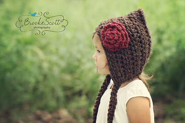 Pixie Hat with Rose
