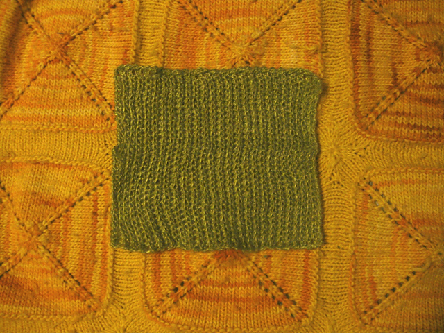 Linen dishcloth before use