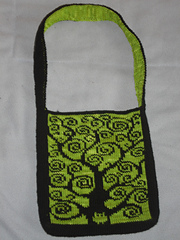Ravelry: Bile Tree Double Knitting reversible bag / Tasche pattern by Alexand...