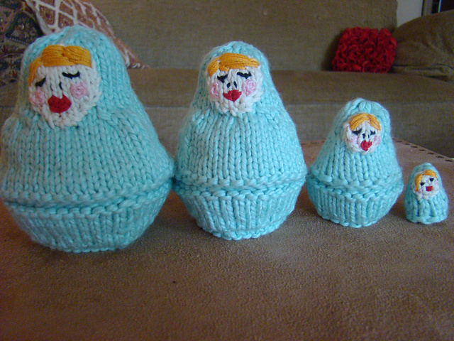 Knitting Pattern Russian Doll : Anything Knitted and Crocheted: Matryoshka, Babushka ...