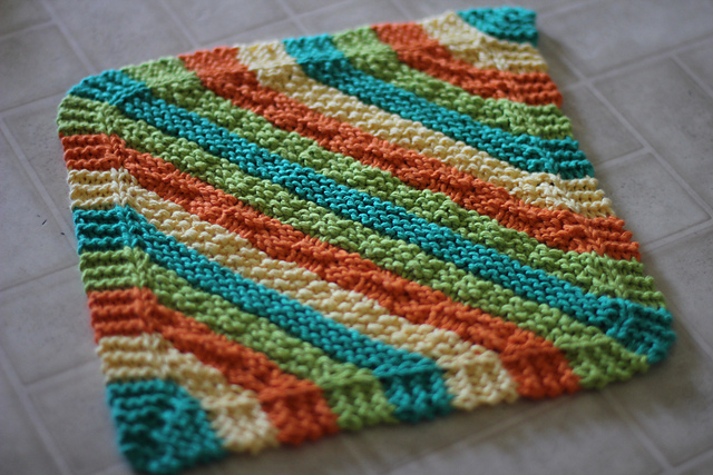 great knitted dish towel
