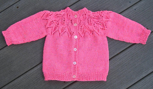 Craft Passions Leafy Baby Sweater Free KNITTING Pattern Link Here Unique Free Knitting Patterns For Baby Sweaters