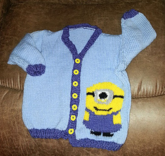 Knitting Pattern For Minion Jumper : Ravelry: Minion Sweater pattern by Tammy Mansfield