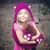 Ravelry: Cuddly Cat Crochet Scoodie with Pockets pattern ...