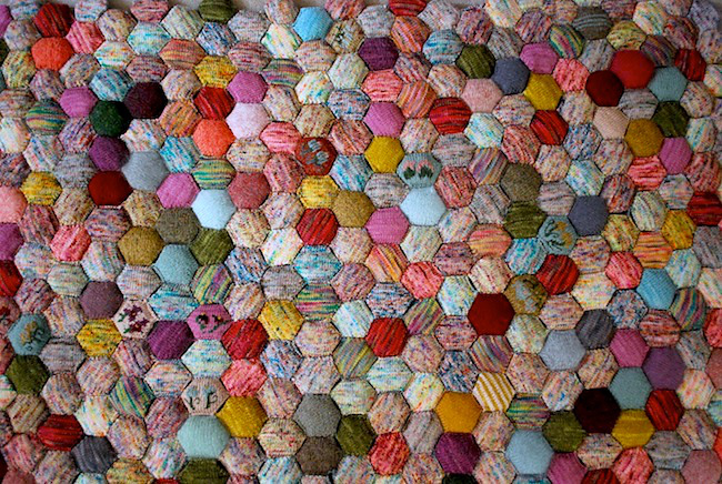 Beekeeper s Quilt Knitting Pattern Free : The Beekeeper s Quilt: Get Your Hexipuff On! Exchanging Fire