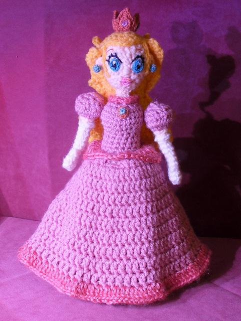 amigurumis con yokita: princesa peach de mario bross