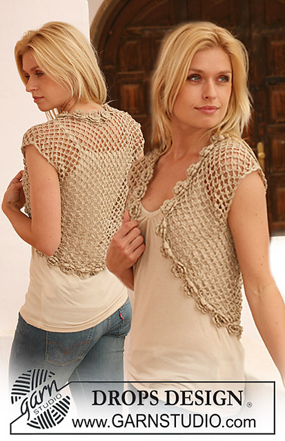 free crochet pattern, shrug, bolero, vest, mesh, summer sweater