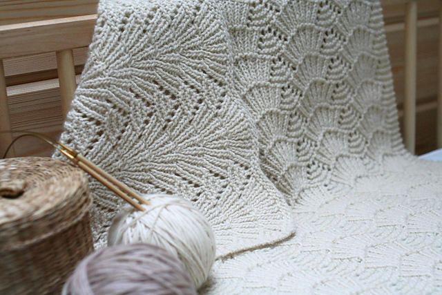 Seashell Knitting Pattern : seashells blanket knit pattern Learn To Knit Pinterest