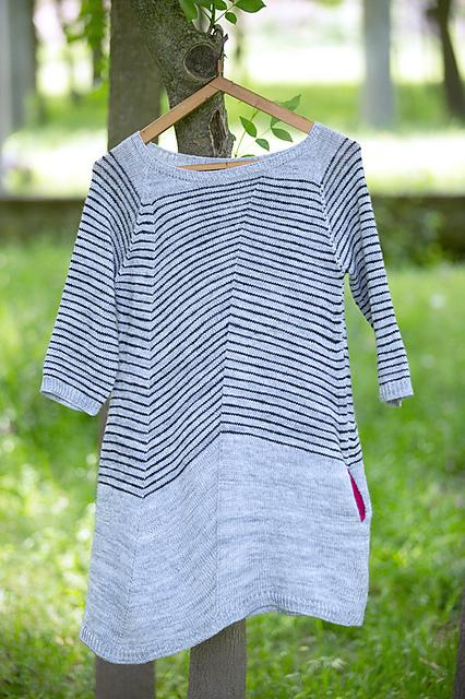 Lanway-套头条纹连身裙 - Tina - Tina的手工编织的博客