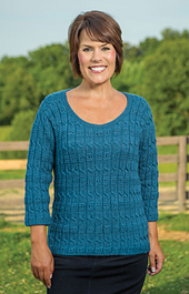 Cable and Eyelet Pullover #186 PDF