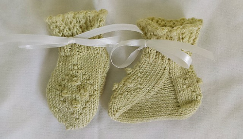 Darling set in bamboo, booties instep