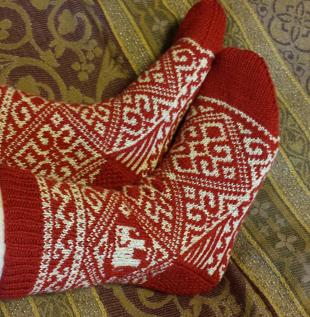 Water for the Elephants socks, sides