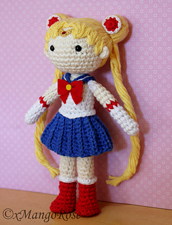 Amigurumi Moon Pattern : Ravelry: Sailor Moon Amigurumi Doll pattern by Wendy Korz