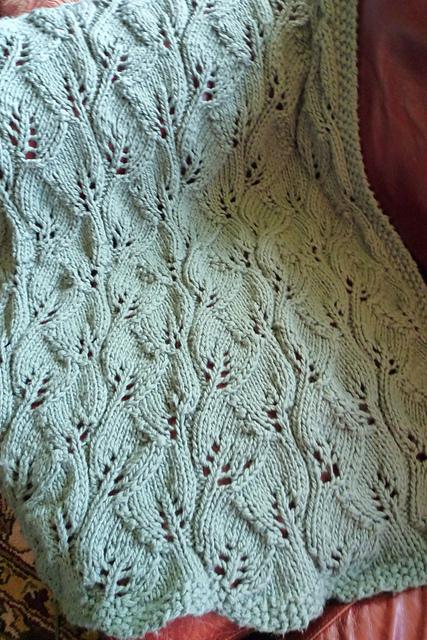 Knitted Leaf Pattern Blanket Free Zoshwiki